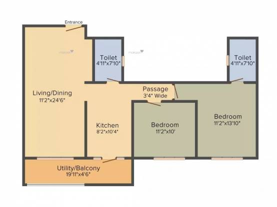 1210 sqft, 2 bhk Apartment in Sobha Rain Forest at Dream Acres Varthur, Bangalore at Rs. 77.9300 Lacs