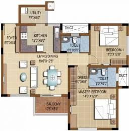 1273 sqft, 2 bhk Apartment in Purva Skydale Harlur, Bangalore at Rs. 1.0000 Cr