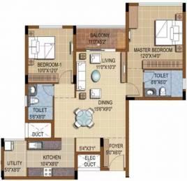 1371 sqft, 2 bhk Apartment in Purva Skydale Harlur, Bangalore at Rs. 1.0500 Cr