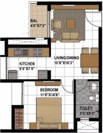 628 sqft, 1 bhk Apartment in Prestige Bagamane Temple Bells Rajarajeshwari Nagar, Bangalore at Rs. 32.0000 Lacs
