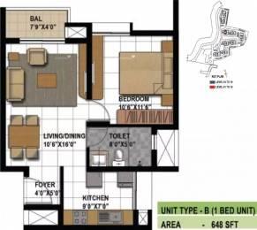 648 sqft, 1 bhk Apartment in Prestige Bagamane Temple Bells Rajarajeshwari Nagar, Bangalore at Rs. 33.0000 Lacs