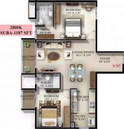 1187 sqft, 2 bhk Apartment in Mahaveer Jasper JP Nagar Phase 7, Bangalore at Rs. 56.3800 Lacs