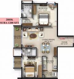 1200 sqft, 2 bhk Apartment in Mahaveer Jasper JP Nagar Phase 7, Bangalore at Rs. 57.0000 Lacs