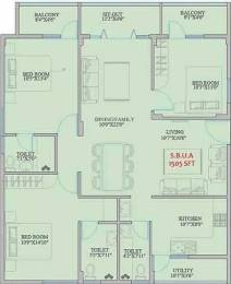 1505 sqft, 3 bhk Apartment in Mahaveer Zephyr Bommanahalli, Bangalore at Rs. 80.5100 Lacs