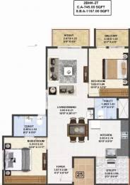 1157 sqft, 2 bhk Apartment in Mahaveer Carnation Talaghattapura, Bangalore at Rs. 59.9500 Lacs