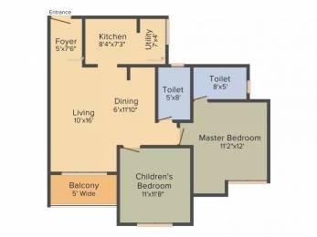 1046 sqft, 2 bhk Apartment in Salarpuria Sattva Anugraha Nagarbhavi, Bangalore at Rs. 66.0000 Lacs