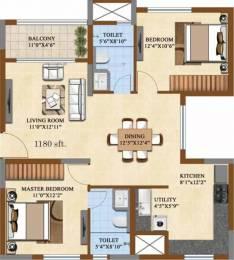 1180 sqft, 2 bhk Apartment in Salarpuria Sattva Divinity Nayandahalli, Bangalore at Rs. 88.0000 Lacs