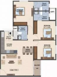 1354 sqft, 3 bhk Apartment in Salarpuria Sattva Laurel Heights Jalahalli, Bangalore at Rs. 82.0000 Lacs