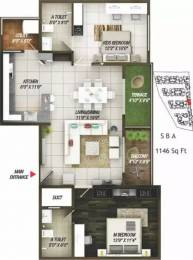 1146 sqft, 2 bhk Apartment in Concorde Epitome Electronic City Phase 2, Bangalore at Rs. 45.0000 Lacs