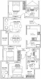 1517 sqft, 3 bhk Apartment in Godrej Avenues Yelahanka, Bangalore at Rs. 89.5400 Lacs
