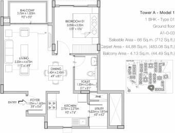712 sqft, 1 bhk Apartment in Godrej Life Plus Kanakapura Road Beyond Nice Ring Road, Bangalore at Rs. 41.0000 Lacs