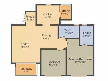 1017 sqft, 2 bhk Apartment in Godrej Eternity Kanakapura Road Beyond Nice Ring Road, Bangalore at Rs. 55.9900 Lacs
