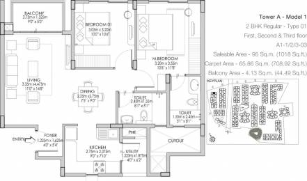 1018 sqft, 2 bhk Apartment in Godrej Life Plus Kanakapura Road Beyond Nice Ring Road, Bangalore at Rs. 58.0000 Lacs