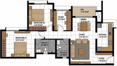 1376 sqft, 2 bhk Apartment in Prestige Bagamane Temple Bells Rajarajeshwari Nagar, Bangalore at Rs. 82.0000 Lacs
