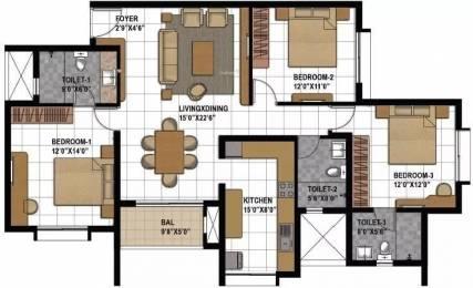 1587 sqft, 3 bhk Apartment in Prestige Bagamane Temple Bells Rajarajeshwari Nagar, Bangalore at Rs. 94.0000 Lacs