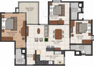 1656 sqft, 3 bhk Apartment in Brigade Serene At Brigade Utopia Varthur, Bangalore at Rs. 99.0000 Lacs