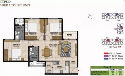 1364 sqft, 3 bhk Apartment in Prestige Willow Tree Vidyaranyapura, Bangalore at Rs. 85.1600 Lacs