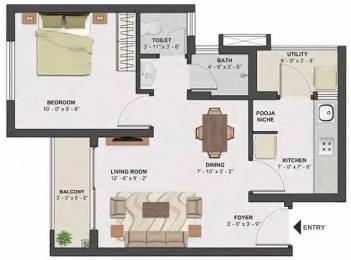 576 sqft, 1 bhk Apartment in TATA Santorini Mevalurkuppam, Chennai at Rs. 29.0000 Lacs