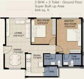 848 sqft, 2 bhk Apartment in Provident Provident Freedom Kelambakkam, Chennai at Rs. 30.0000 Lacs