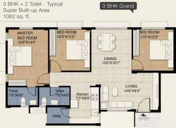1062 sqft, 3 bhk Apartment in Provident Provident Freedom Kelambakkam, Chennai at Rs. 36.9700 Lacs