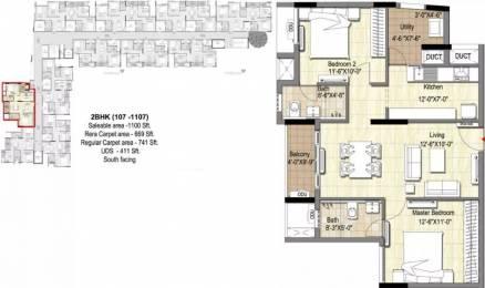 1100 sqft, 2 bhk Apartment in DRA 90 Degrees Madipakkam, Chennai at Rs. 63.2500 Lacs