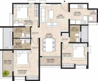 1478 sqft, 3 bhk Apartment in Mahindra Lakewoods Singaperumal Koil, Chennai at Rs. 65.0000 Lacs