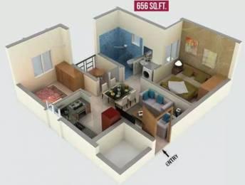 656 sqft, 2 bhk Apartment in Alliance Galleria Residences Pallavaram, Chennai at Rs. 41.0000 Lacs