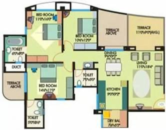 1456 sqft, 3 bhk Apartment in Giridhar Oasis Kharadi, Pune at Rs. 25000
