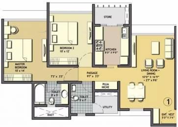 1008 sqft, 2 bhk Apartment in Lodha Aqua Mira Road East, Mumbai at Rs. 1.3000 Cr