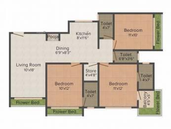 1612 sqft, 3 bhk Apartment in Happy Home Nakshatra View Pal Gam, Surat at Rs. 55.0000 Lacs