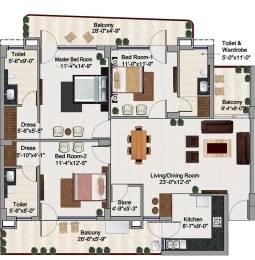 1906 sqft, 3 bhk Apartment in Builder green lotus saksham zirakpur Zirakpur, Mohali at Rs. 64.9000 Lacs