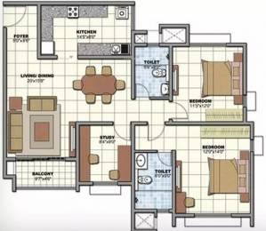 1374 sqft, 2 bhk Apartment in Prestige Birchwood at Sunrise Park Electronic City Phase 1, Bangalore at Rs. 78.0000 Lacs