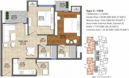 1050 sqft, 2 bhk Apartment in Ace Divino Sector 1 Noida Extension, Greater Noida at Rs. 32.9899 Lacs