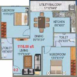 1116 sqft, 2 bhk Apartment in SLV Nakshatra Horamavu, Bangalore at Rs. 44.0000 Lacs
