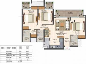 1395 sqft, 3 bhk Apartment in Ajnara Olive Greens Knowledge Park V, Greater Noida at Rs. 48.0000 Lacs