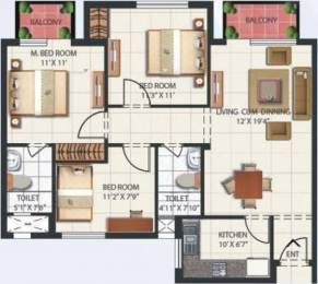1350 sqft, 3 bhk Apartment in Mahindra Aura Sector 110A, Gurgaon at Rs. 25000