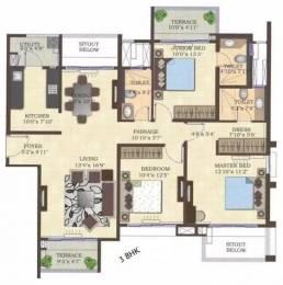 1560 sqft, 3 bhk Apartment in Mahindra Antheia Pimpri, Pune at Rs. 25000