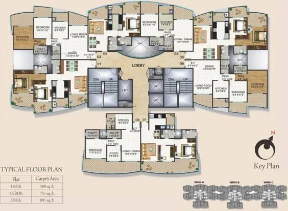 505 sqft, 1 bhk Apartment in Satra Eastern Heights Chembur, Mumbai at Rs. 1.2500 Cr