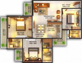 1550 sqft, 3 bhk Apartment in Emenox La Solara Sector 16 Noida Extension, Greater Noida at Rs. 49.6000 Lacs