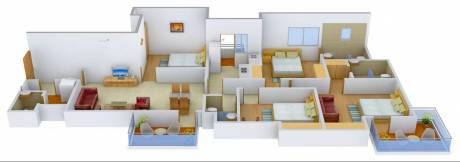 2012 sqft, 4 bhk Apartment in Ireo Uptown Sector 66, Gurgaon at Rs. 38000