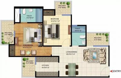 1060 sqft, 2 bhk Apartment in VVIP Homes Sector 16C Noida Extension, Greater Noida at Rs. 45.0000 Lacs