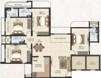 2415 sqft, 4 bhk Apartment in Thakur Jewel Tower Kandivali East, Mumbai at Rs. 3.2500 Cr