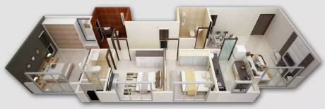 1249 sqft, 3 bhk Apartment in Dhaval Sunrise Charkop Kandivali West, Mumbai at Rs. 2.0500 Cr