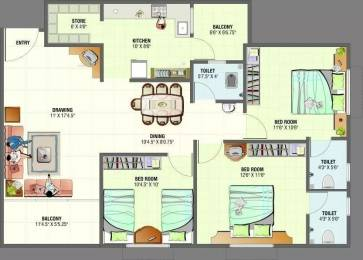 1584 sqft, 3 bhk Apartment in Vandemataram Homes Ranip, Ahmedabad at Rs. 37.0000 Lacs
