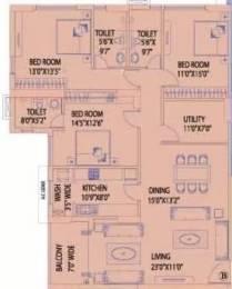 2252 sqft, 3 bhk Apartment in Mani Kala Kankurgachi, Kolkata at Rs. 85000
