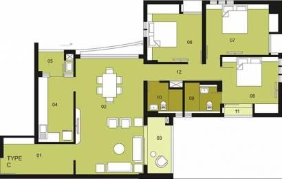 1843 sqft, 3 bhk Apartment in Ambuja Upohar Garia, Kolkata at Rs. 38000