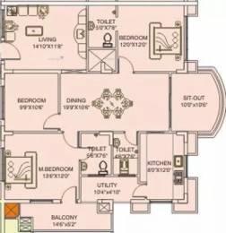 1789 sqft, 3 bhk Apartment in Saket Sriyam Kushaiguda, Hyderabad at Rs. 45.0000 Lacs