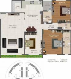 2038 sqft, 3 bhk Apartment in Green Green City Gold Pal Gam, Surat at Rs. 12000