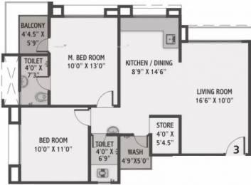 1245 sqft, 2 bhk Apartment in JT Stuti Arista Adajan, Surat at Rs. 8500