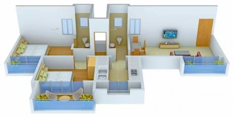 1082 sqft, 2 bhk Apartment in Neelsidhi Amarante Kalamboli, Mumbai at Rs. 13000